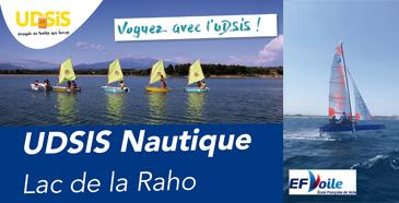 Activité Voile UDSIS au Lac-de-la-Raho été 2021